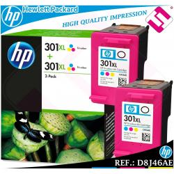 PACK TINTA TRICOLOR 301XL ORIGINAL IMPRESORAS HP CARTUCHO COLOR HEWLETT PACKARD