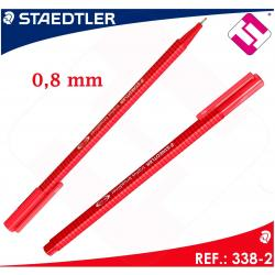 STAEDTLER 10 UNIDADES COLOR ROJO DE DISEÑO TRIANGULAR BROADLINER PUNTA 0,8MM