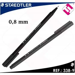 STAEDTLER 10 UNIDADES COLOR NEGRO DE DISEÑO TRIANGULAR BROADLINER PUNTA 0,8MM