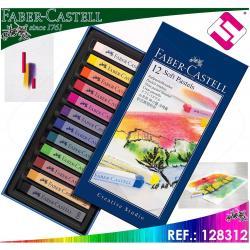 FABER CASTELL ESTUCHE 12 BARRAS DE COLORES PASTELES BLANDOS CREATIVE STUDIO SOFT
