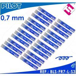 PILOT FRIXION COLOR AZUL X24 PACKS PAQUETES 3 UNIDADES RECAMBIOS BLS-FR7-L-S3
