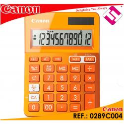 CALCULADORA COLOR NARANJA INTENSO SERIE GAMA K MINI BOLSILLO 10 DIGITOS OFERTA