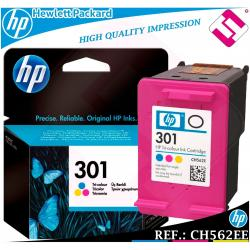 TINTA TRICOLOR 301 ORIGINAL IMPRESORAS HP CARTUCHO COLOR HEWLETT PACKARD CH562EE