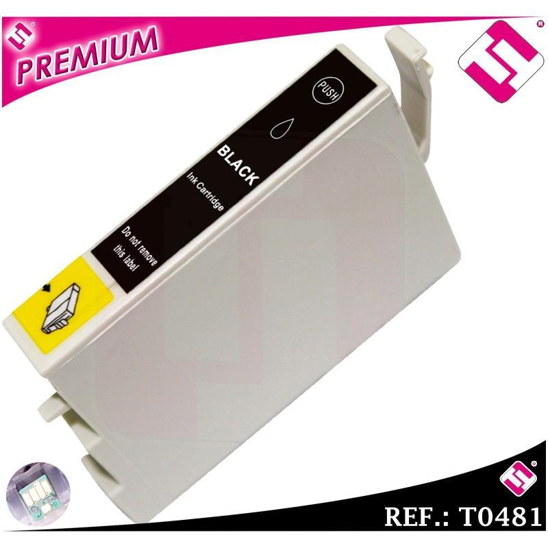 TINTA NEGRA T0481 COMPATIBLE NONOEM PARA IMPRESORAS EPSON CARTUCHO NEGRO XL
