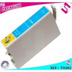 TINTA CIAN T0482 COMPATIBLE NONOEM PARA IMPRESORAS EPSON CARTUCHO AZUL XL