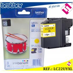 TINTA LC22UY XL AMARILLA ORIGINAL CARTUCHO AMARILLO IMPRESORA BROTHER FORMATO XL