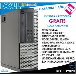 PC ORDENADOR OCASION DELL D9020 INTEL I5 4570 3,2HZ 8GB RAM 500GB DVD+RW OFERTA