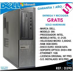 PC ORDENADOR OCASION DELL D390 INTEL I3 2120 3,3HZ 8GB RAM 500GB DVD+RW OFERTA