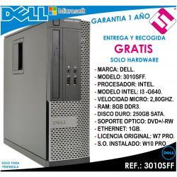 PC ORDENADOR OCASION DELL 3010SFF I3 G640 2,80GHZ 8GB RAM 250GB DVD+ - RW OFERTA