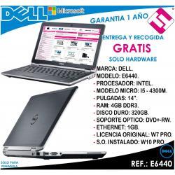 PORTATIL ORDENADOR OCASION DELL E6440 I5 4300M 2,60 GHZ 4GB 320GB 14 W7 W10 PRO