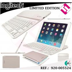 TECLADO Y BASE LOGITECH KEYBOARD ULTRATHIN BLANCO PARA APPLE IPAD AIR BLUETOOTH
