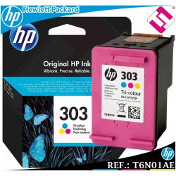 TINTA TRICOLOR 303 ORIGINAL PARA IMPRESORAS HP ENVY PHOTO CARTUCHO COLOR T6N01AE