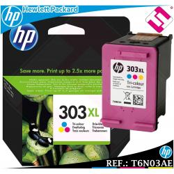 TINTA TRICOLOR 303XL ORIGINAL IMPRESORAS HP ENVY PHOTO CARTUCHO COLOR T6N03AE