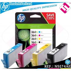 PACK TINTA NEGRA TRICOLOR 364XL ORIGINAL IMPRESORAS HP CARTUCHO HEWLETT PACKARD