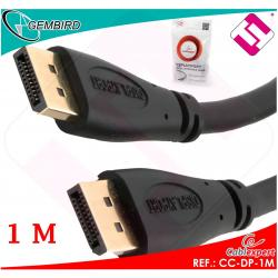 CABLE 1 METRO DISPLAY PORT CC-DP-1M RESOLUCION DE 1080 HASTA 4K EMBALAJE POLYBAG