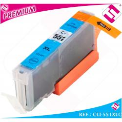 TINTA CLI551C CLI 551 XL CIAN CARTUCHO AZUL NONOEM COMPATIBLE NO ORIGINAL 551XLC