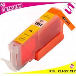TINTA CLI551Y CLI 551 XL AMARILLA CARTUCHO AMARILLO NOOEM COMPATIBLE NO ORIGINAL