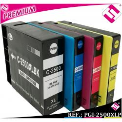 PACK TINTA PGI 2500 XL SET 4 COLORES COMPATIBLE CARTUCHO IMPRESORA CANON NONOEM