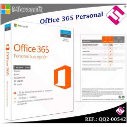MICROSOFT OFFICE 365 PERSONAL PC MAC TABLETA LICENCIA 1 AÑO EN CAJA - QQ2-00542
