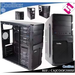 CAJA COOLBOX F200SF PANEL FRONTAL USB 3.0 2.0 AUDIO MICROFONO PC ORDENADOR ATX