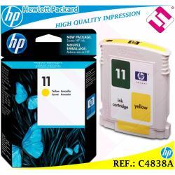 TINTA AMARILLO 11 ORIGINAL IMPRESORAS HP CARTUCHO NEGRO HEWLETT PACKARD C4838A