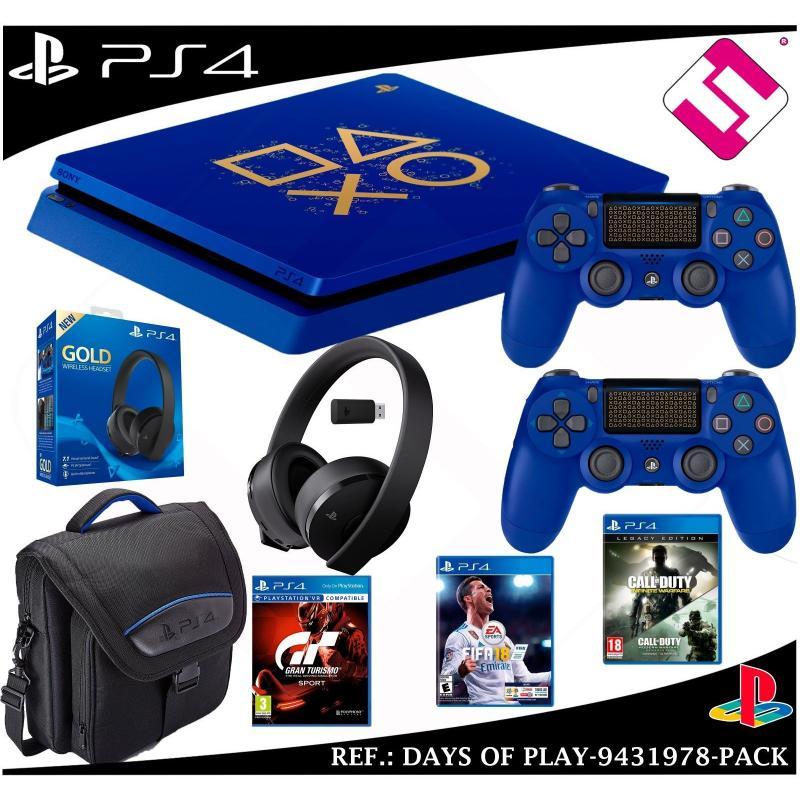 DAYS OF PLAY PS4 500GB 2 MANDOS BOLSO AURICULAR GT SPORT FIFA 2018 CALL OF DUTY CUH-2116A