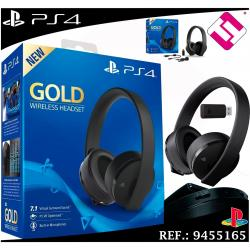 AURICULAR SONY PS4 GOLD WIRELESS HEADSET MICROFONO 7.1 VIRTUAL PS VR OPTIMIZADO