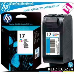 TINTA TRICOLOR 15 ORIGINAL IMPRESORAS HP CARTUCHO COLOR HEWLETT PACKARD C6625A