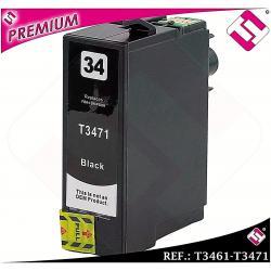TINTA T3471 T3461 34XL NEGRA CARTUCHO NEGRO NONOEM EPSON COMPATIBLE BLACK XL