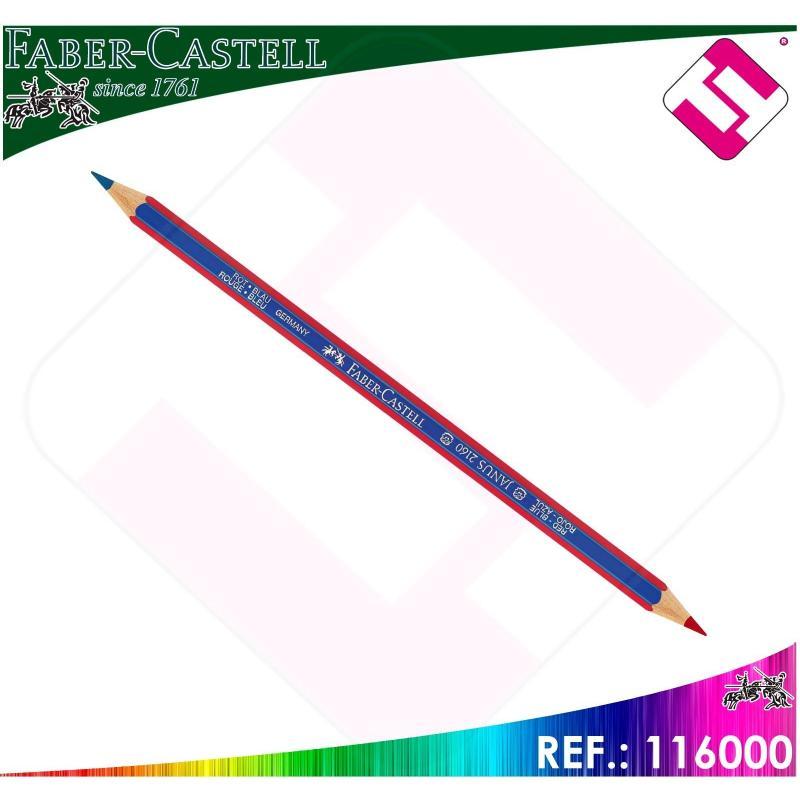 LAPIZ BICOLOR FABER CASTELL DIAMETRO 3.3MM AZUL ROJO HEXAGONAL PROFESIONAL DUO