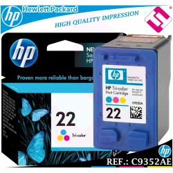 TINTA TRICOLOR 22 ORIGINAL IMPRESORAS HP CARTUCHO COLOR HEWLETT PACKARD C9352AE
