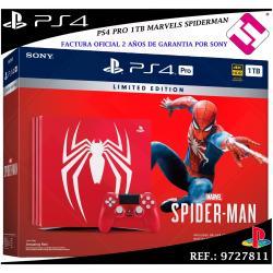 PS4 PLAYSTATION 4 PRO 1TB ROJA MARVEL´S SPIDERMAN JUEGO MANDO EDICION CUH-7116B