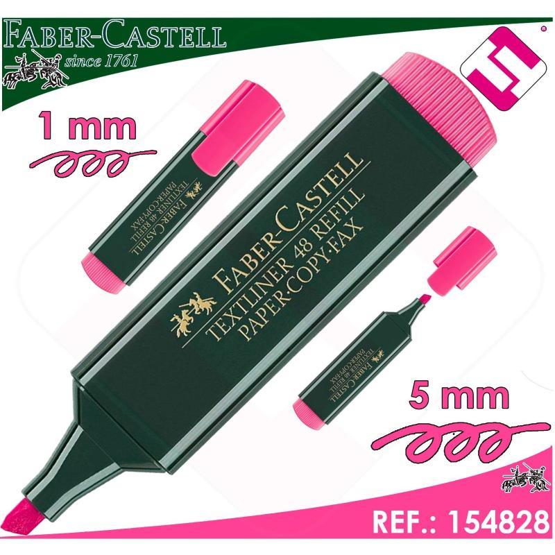 MARCADOR FABER CASTELL ROSA FLUORESCENTE TEXTLINER 48 PLASTICO POLIPROPILENO