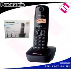 TELEFONO INALAMBRICO DIGITAL PANASONIC KXTG1611 COLOR NEGRO ANTIHUELLA AGENDA 50