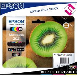 PACK TINTA EPSON 202 SET 5 COLORES ORIGINAL CARTUCHO IMPRESORA MULTIFUNCION