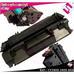 TONER NEGRO CF280X 280X 80X XL COMPATIBLE PARA IMPRESORAS NONOEM HP NO ORIGINAL