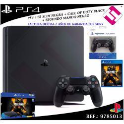 PS4 PLAYSTATION 4 1TB + JUEGO CALL OF DUTY BLACK OPS 4 SEGUNDO MANDO NEGRO SONY