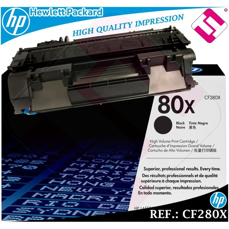 TONER NEGRO CF280X 280X 80X XL ORIGINAL PARA IMPRESORAS HP HEWLETT PACKARD