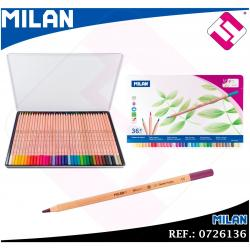 ESTUCHE METALICO MILAN 36 LAPICES COLORES MINA 3,3MM CAJA METALICA IDEAL REGALO