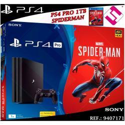 PS4 PLAYSTATION 4 PRO 1TB 4K NEGRA MARVEL´S SPIDERMAN JUEGO MANDO OFERTA OFERTON