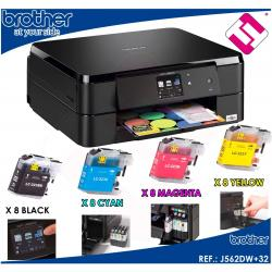 IMPRESORA MULTIFUNCION COLOR BROTHER DCP J562DW WIFI IMPRESION DUPLEX +32 TINTAS