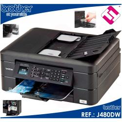 IMPRESORA MULTIFUNCION COLOR BROTHER DCP J480DW FAX WIFI DUPLEX TINTAS X 3 EUROS