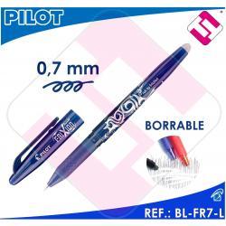 X10 PILOT ROLLER FRIXION BOLIGRAFO TINTA COLOR AZUL BL-FR7-L BORRABLE TRAZO 0,4M