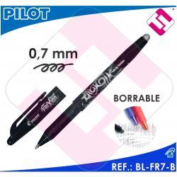 X10 PILOT FRIXION BOLIGRAFO TINTA NEGRA COLOR NEGRO BL-FR7-B BORRABLE TRAZO 0,4M