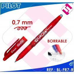 PILOT FRIXION BOLIGRAFO TINTA ROJA COLOR ROJO BL-FR7-R BORRABLE TRAZO 0,4MM