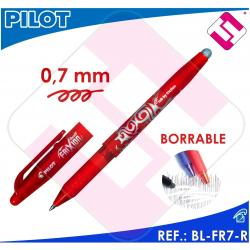 X10 PILOT FRIXION BOLIGRAFO TINTA ROJA COLOR ROJO BL-FR7-R BORRABLE TRAZO 0,4MM