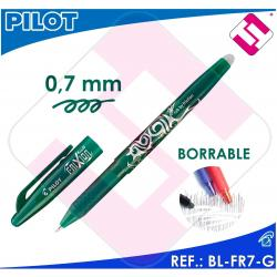 PILOT ROLLER FRIXION BOLIGRAFO TINTA COLOR VERDE BL-FR7-G BORRABLE TRAZO 0,4MM