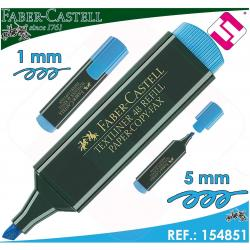 MARCADOR FABER CASTELL AZUL FLUORESCENTE TEXTLINER 48 PLASTICO POLIPROPILENO