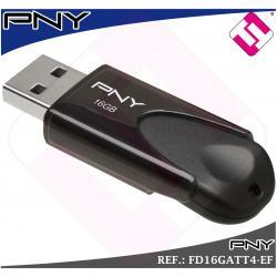 100 UNIDADES MEMORIA USB PENDRIVE 16GB 2.0 MODELO ATTACHE4 FABRICANTE PNY OFERTA