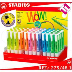 STABILO 48 COLORES EXPOSITOR SWING COOL ROTULADOR FLUORESCENTE SUBRAYADOR OFERTA